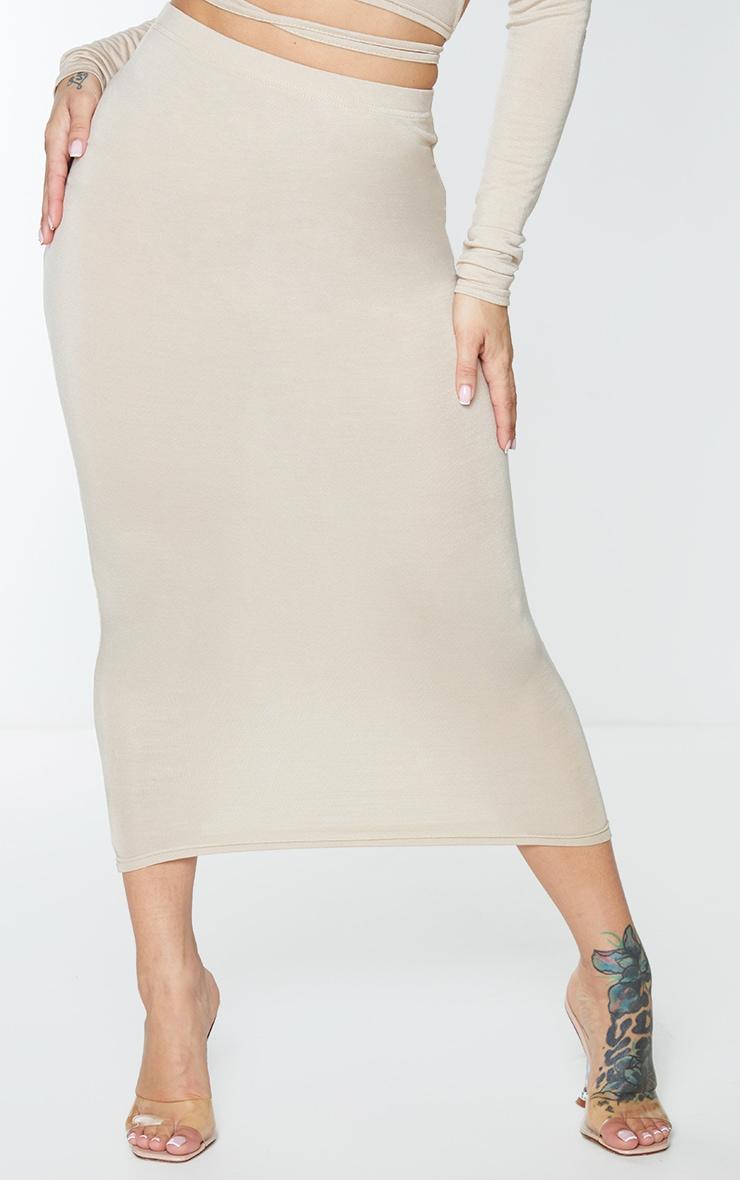 Shape Stone Jersey High Waist Midi Skirt 2