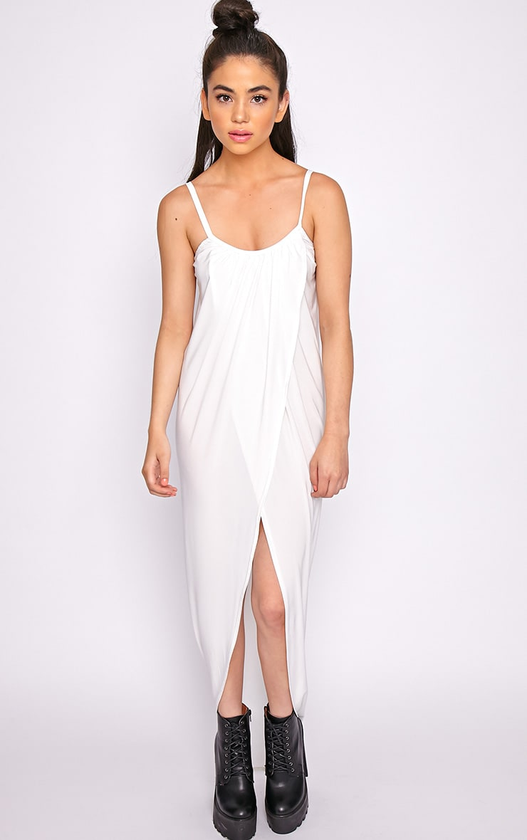 Selma White Extreme Slit Maxi Dress-M/L 5