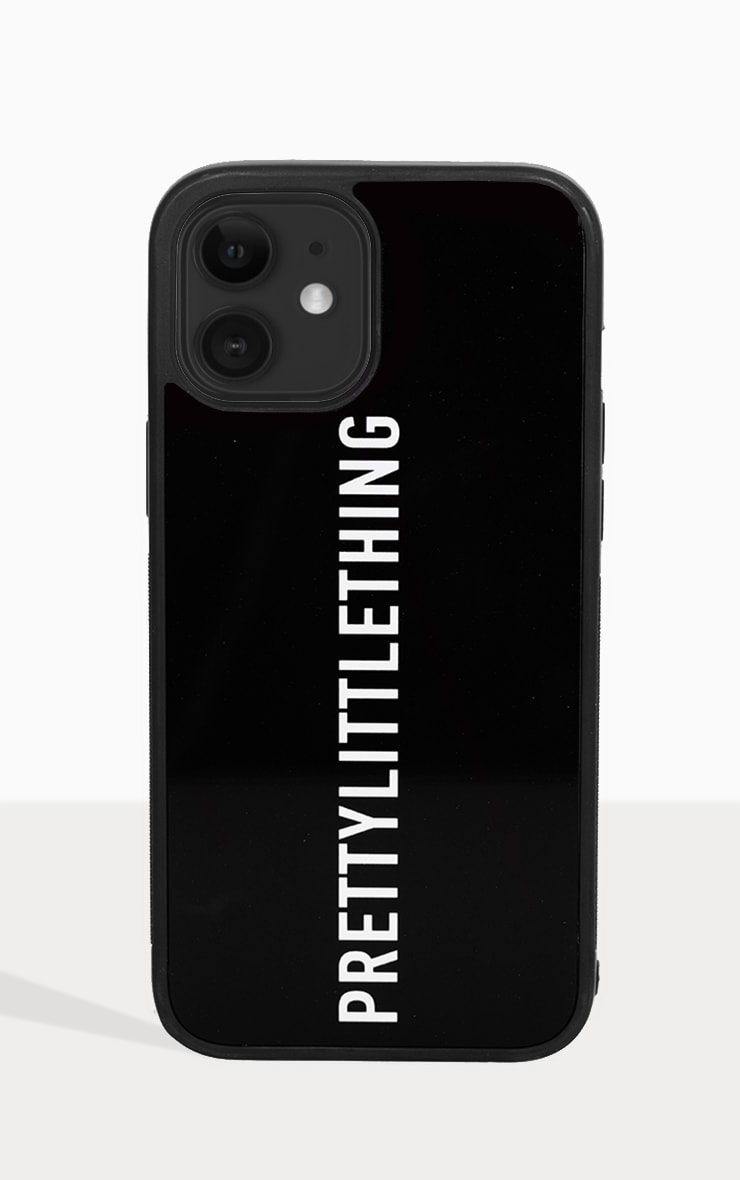 PRETTYLITTLETHING Black Logo iPhone 12 Pro Max Phone Case 2