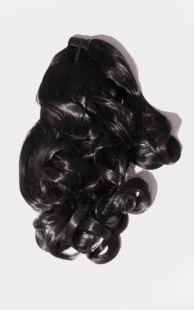 LullaBellz Mini Grande 18 90s Curl Wraparound Pony Raven 5