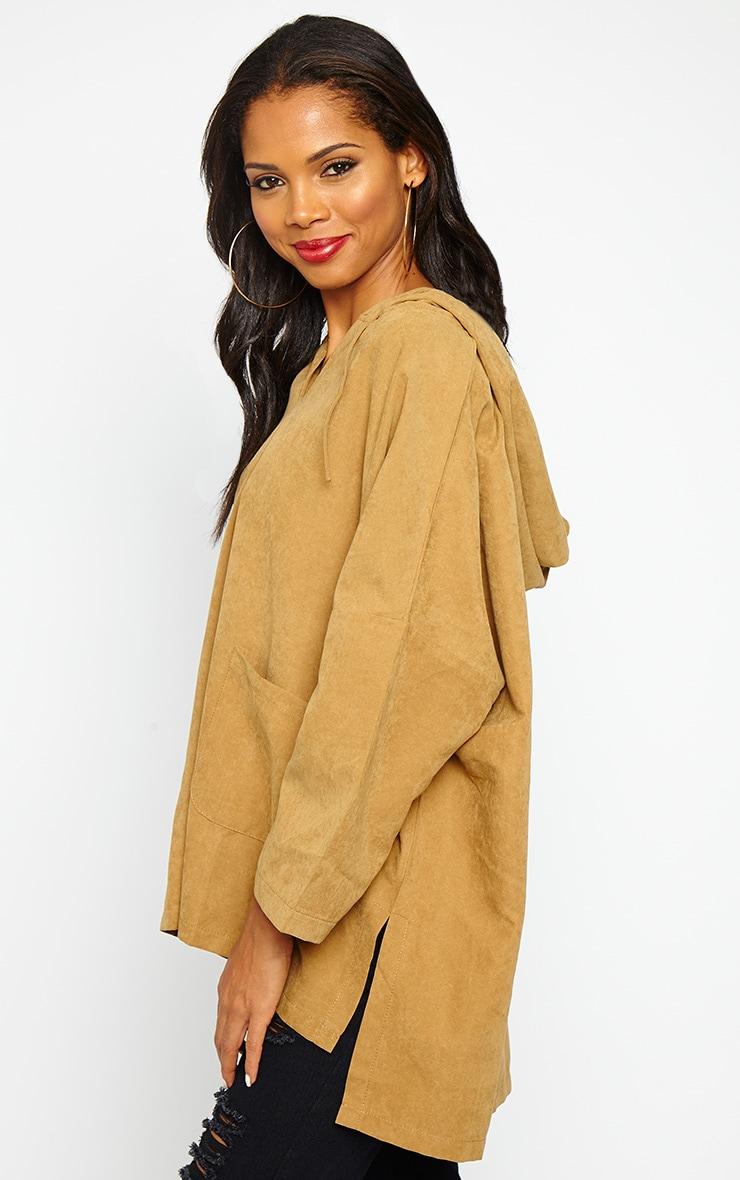 Laina Camel Hooded Jacket 4