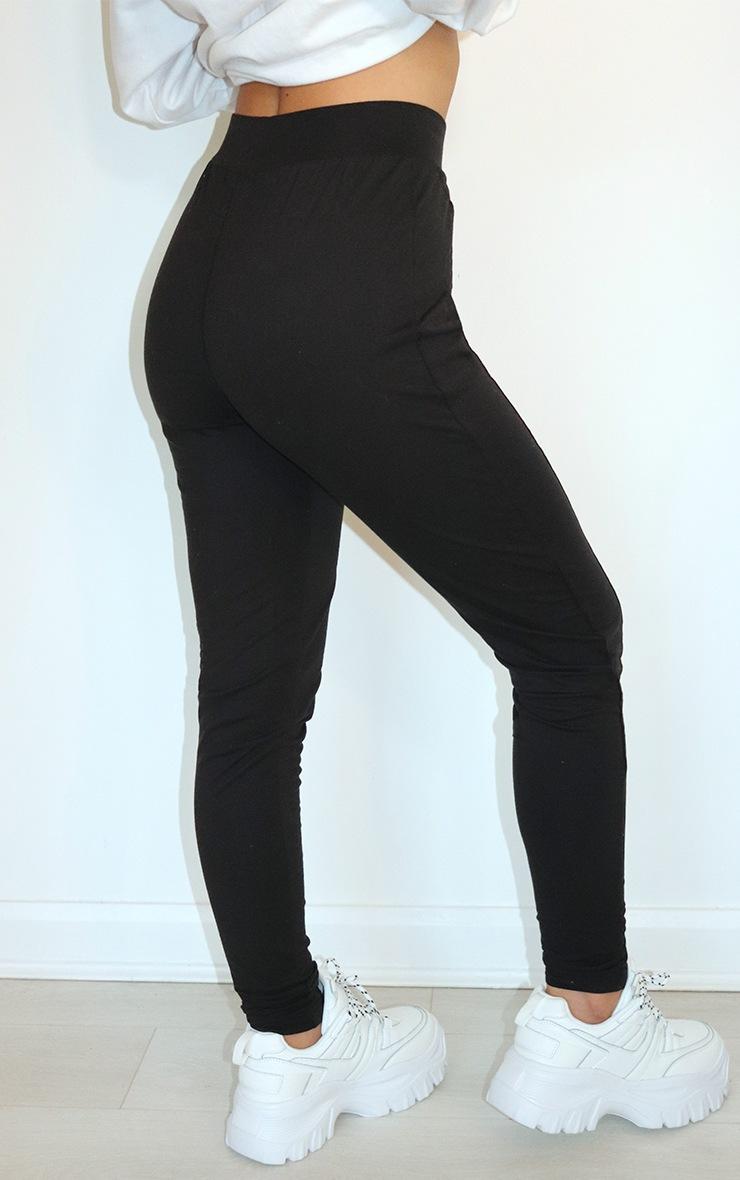 PRETTYLITTLETHING Black Seam Detail Leggings 3