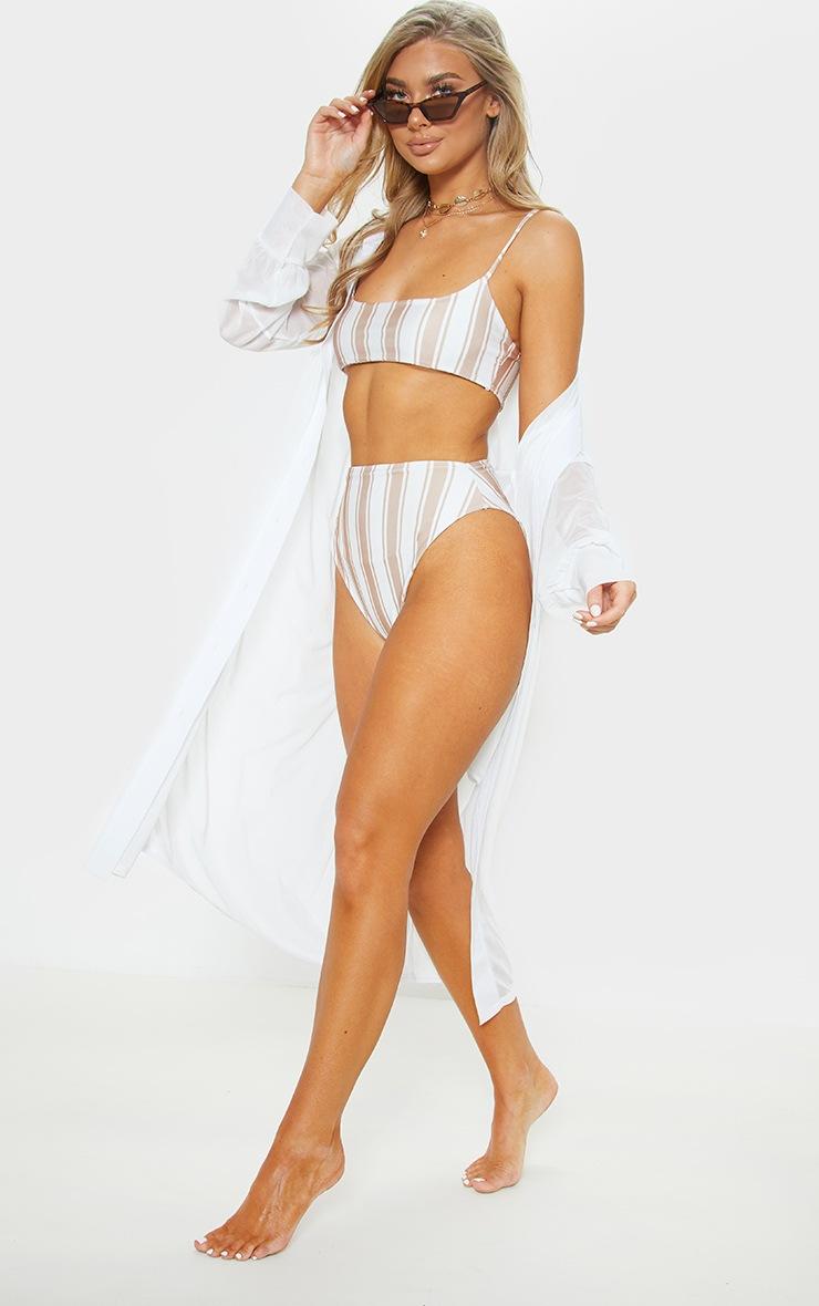White Oversized Beach Shirt Dress 4