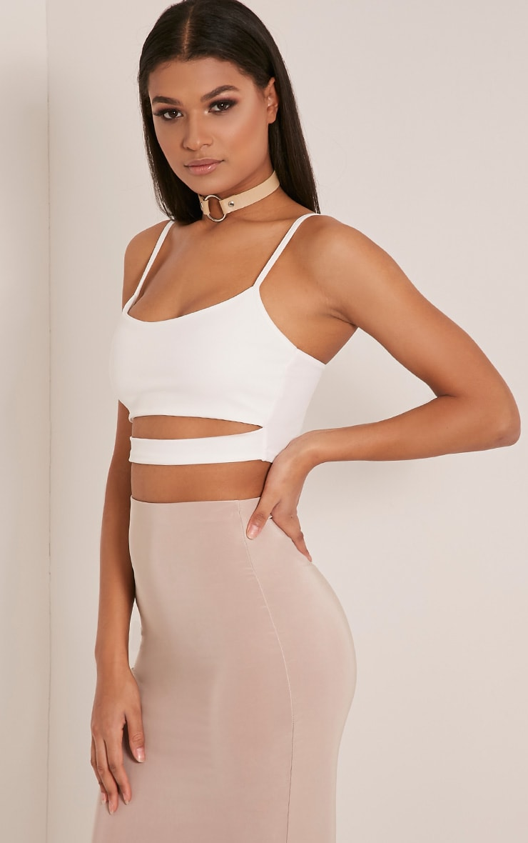 Alexia Cream Cut Out Crop Top 3