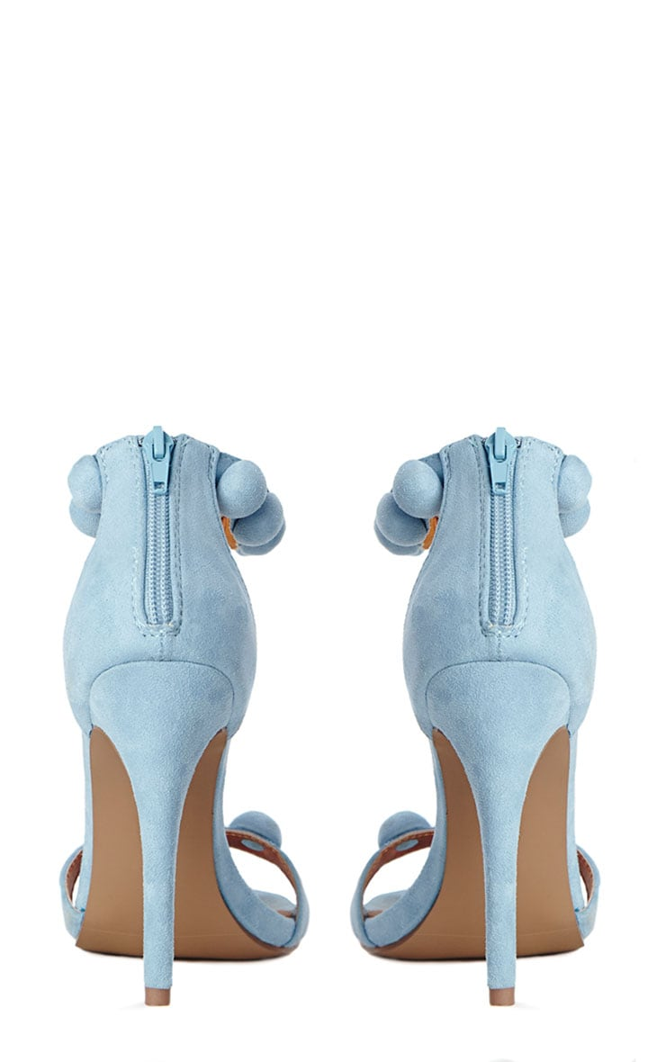 Una Powder Blue Studded Strappy Heeled Sandals 7