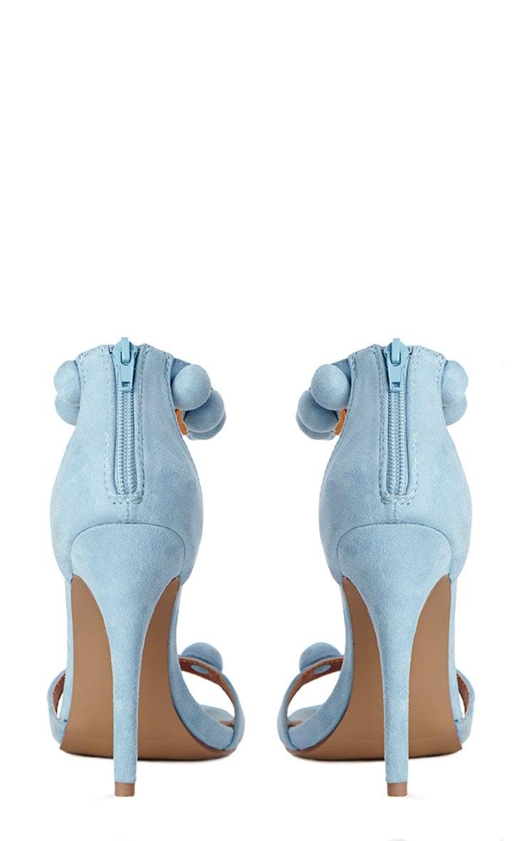Una Powder Blue Studded Strappy Heeled Sandals 7