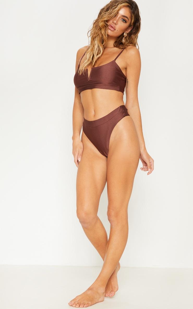 Chocolate V-Wire Bikini Top 4
