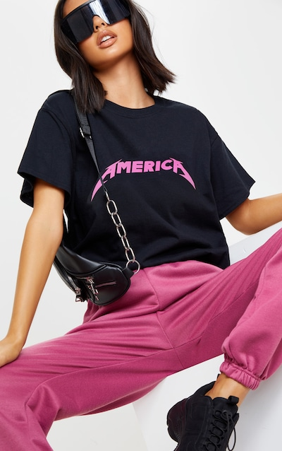 Black America Slogan T Shirt
