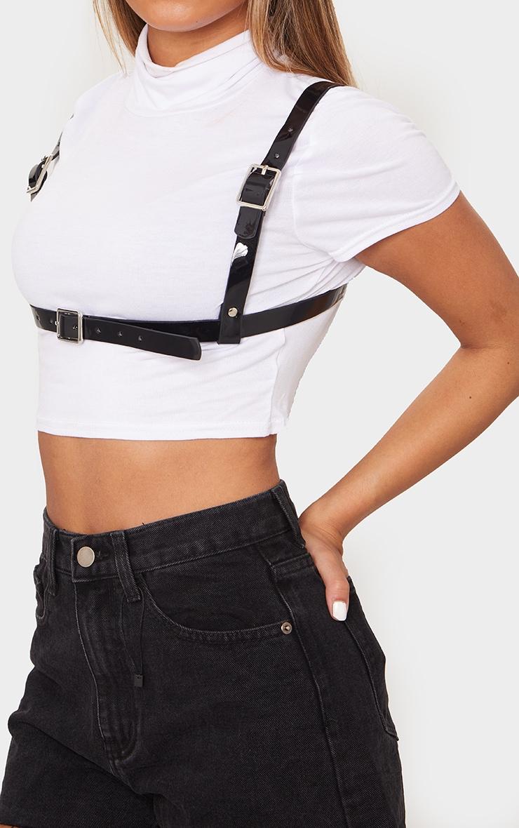 Black PU Bralette Harness 1