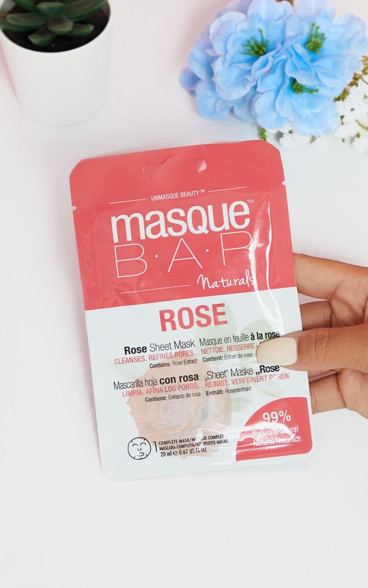 MasqueBAR Naturals Rose Sheet Mask 1