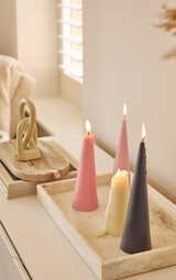 Baby Pink Cone Scented Soy Wax Candle 25cm 1