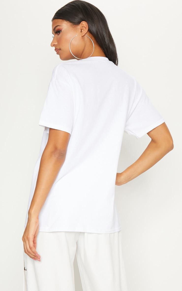 White Gemini Star Sign Slogan Oversized T Shirt  2