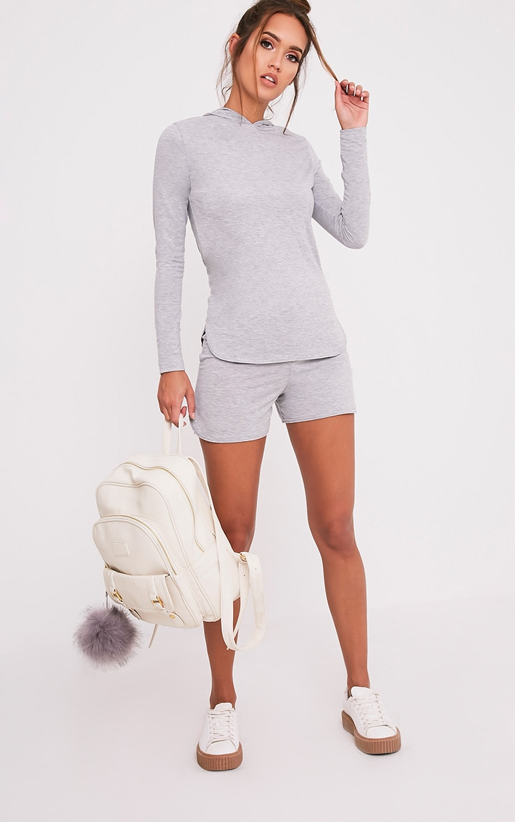 Basic Grey Jersey Hoodie 5