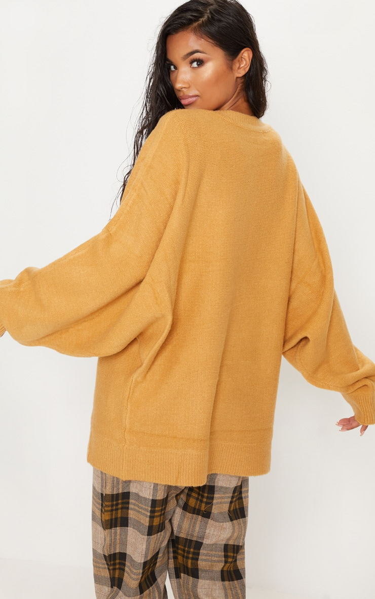 Camel Knitted Jumper 2