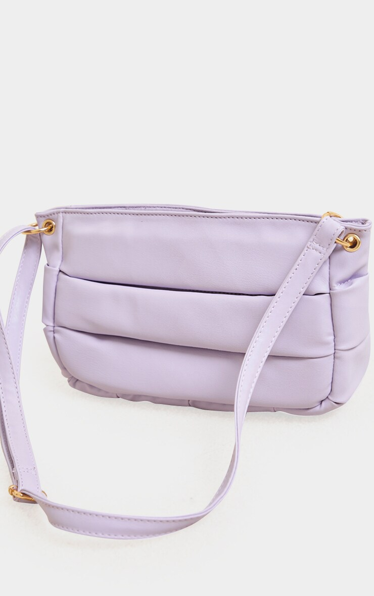 Lilac Padded Shoulder Bag 3