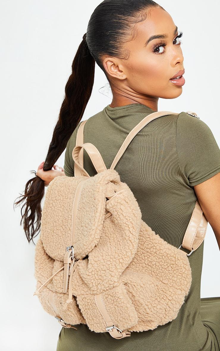 Tan Fur Backpack 1