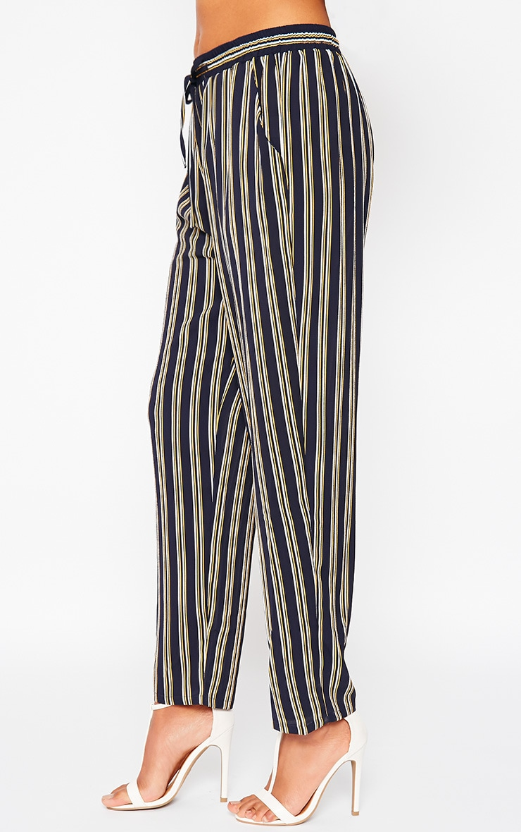 Kali Navy Stripe Trousers 3