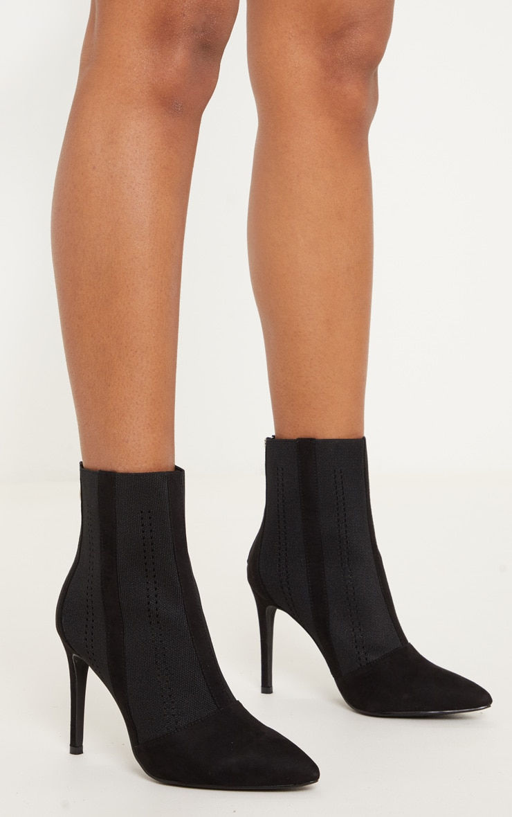 Black Knit Sock Boot 2