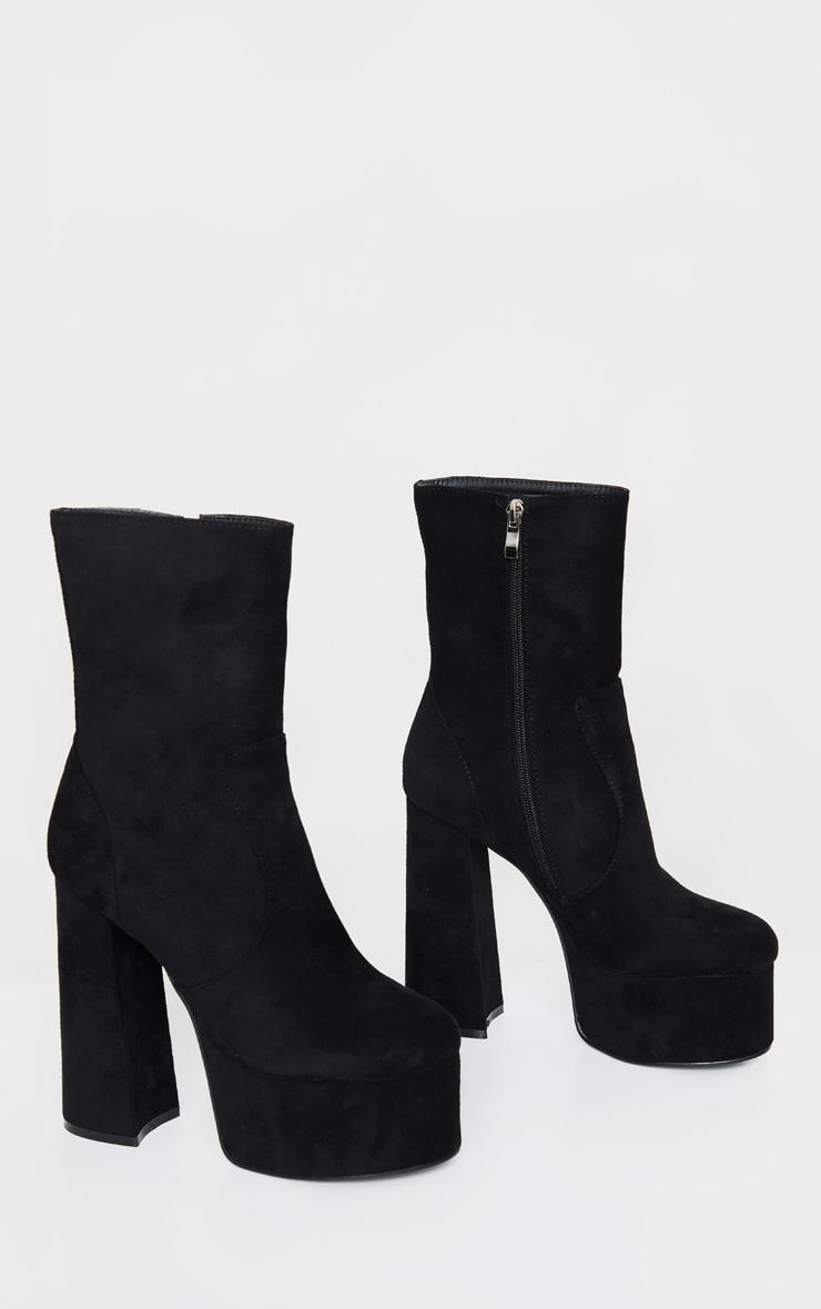 Black Extreme Platform Ankle Boot 3