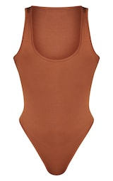 7cded110b3f Basic Tan Racer Back Thong Bodysuit