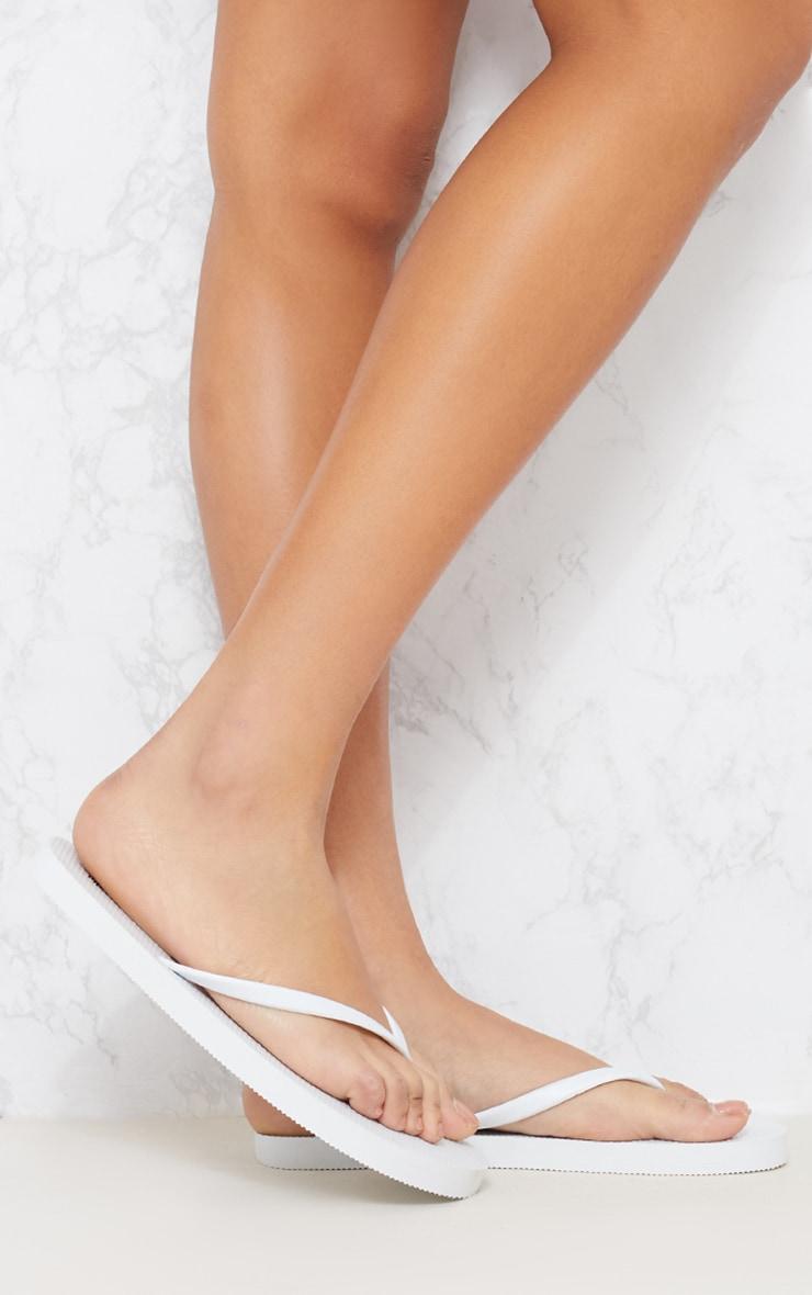 White & Pink Flip Flop 2 Pack 3