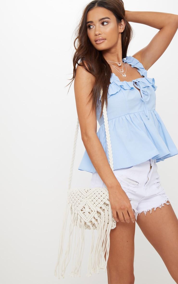 White Crochet Tassel Shoulder Bag Pretty Little Thing ZzJeUNq