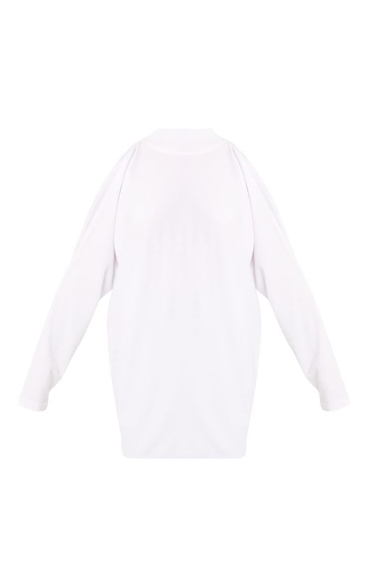 Shela White Cold Shoulder Fine Knit Jumper 3