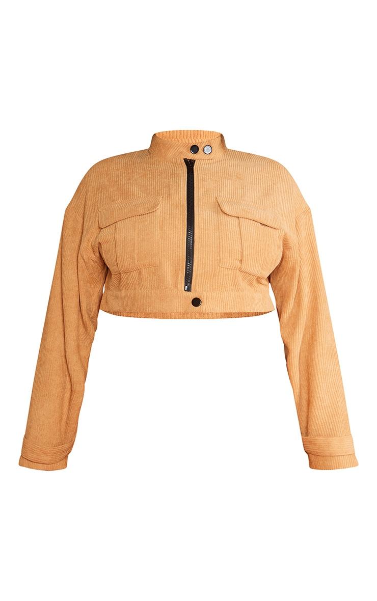 Plus Sand Cord Pocket Crop Jacket 6