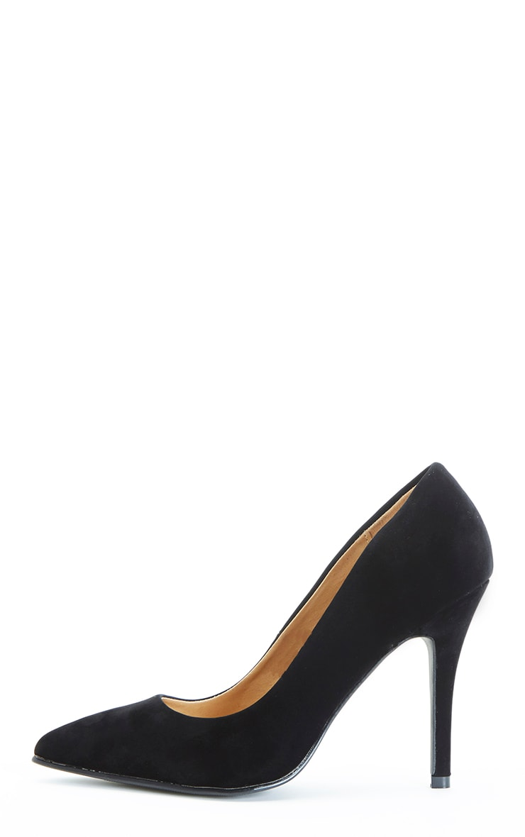 Victoria Black Suedette Stiletto  1