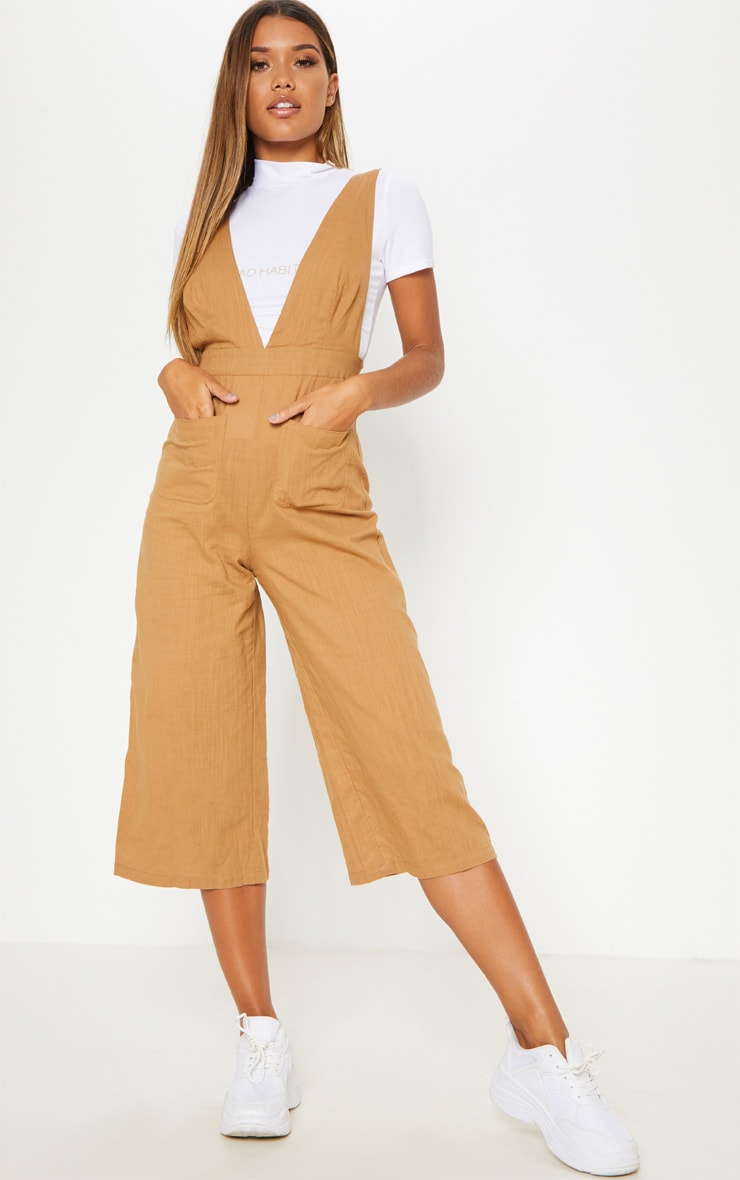 Camel Pocket Detail Dungaree 1