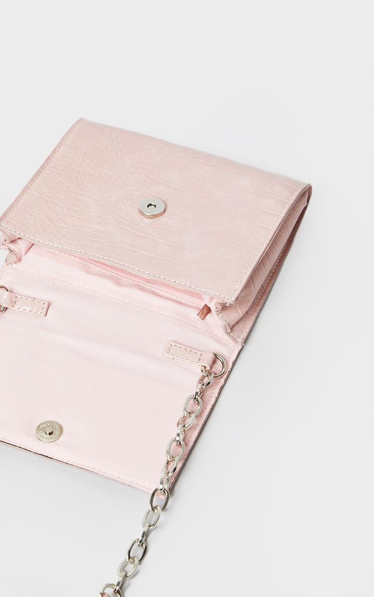 Pink Croc Square Mini Cross Body Bag 4