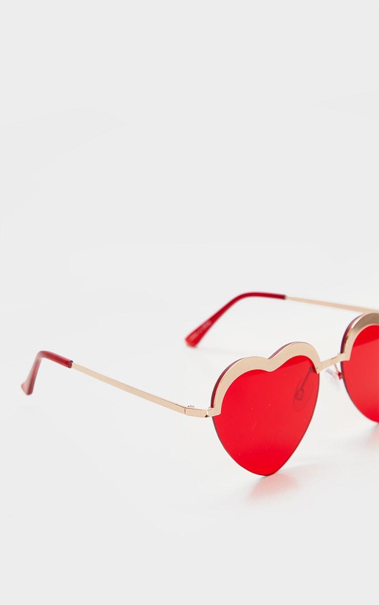 Red Lense Heart Shaped Glasses 4