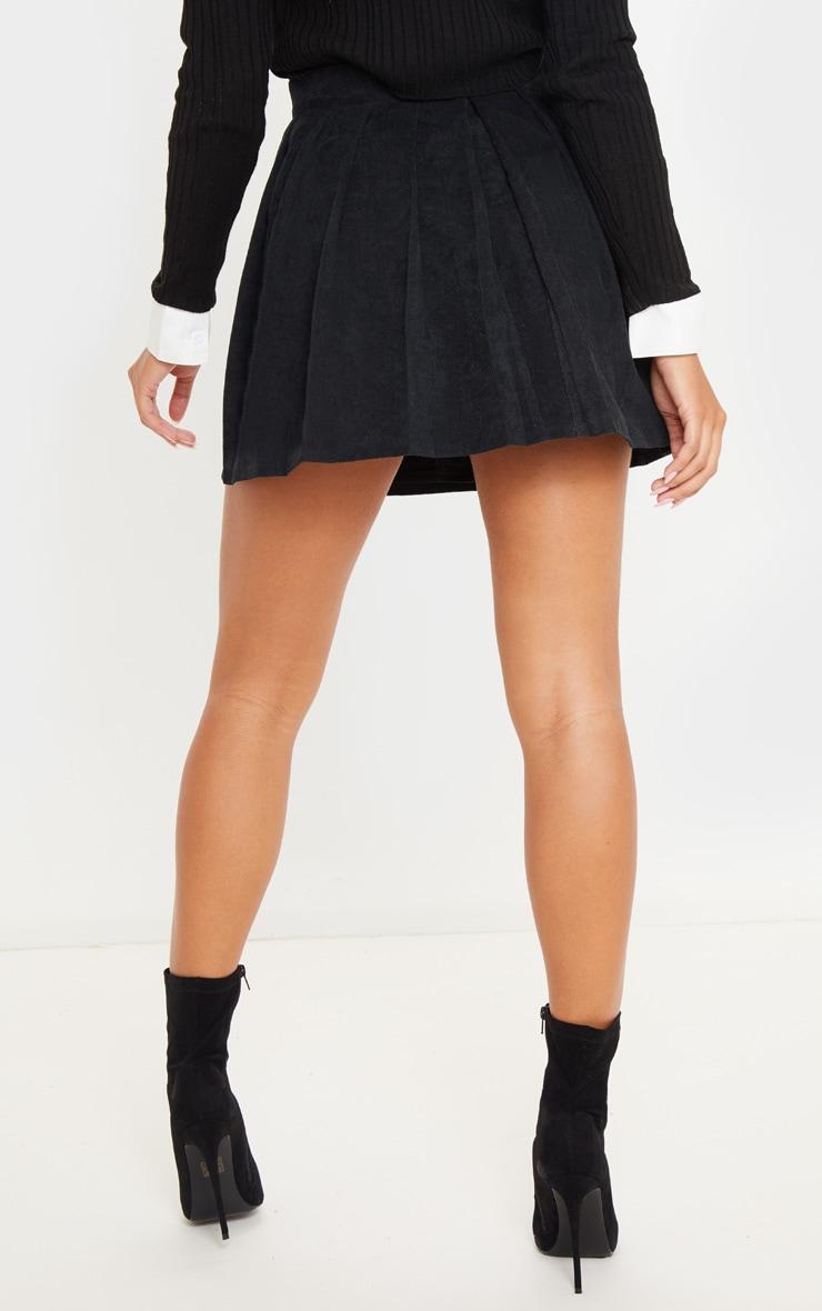 Black Cord Skater Skirt 4