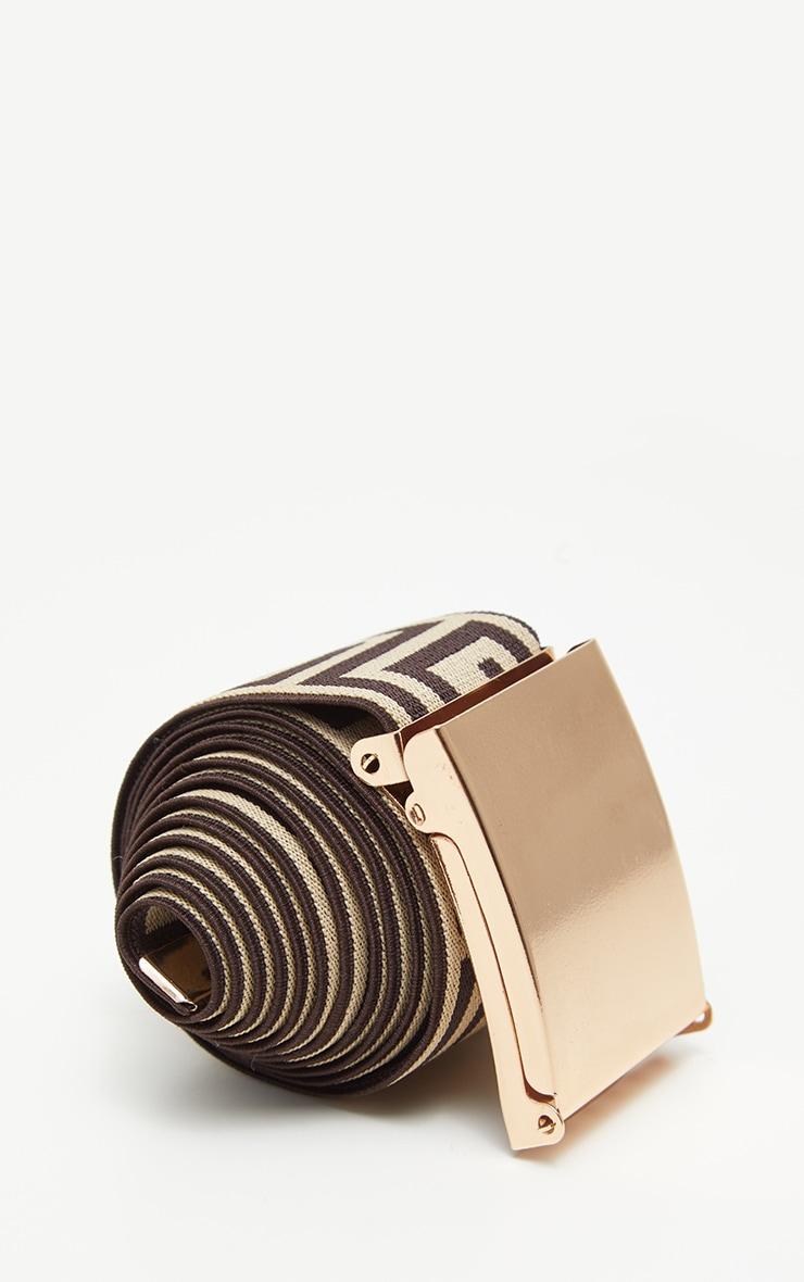 Brown Geo Tape Belt 3
