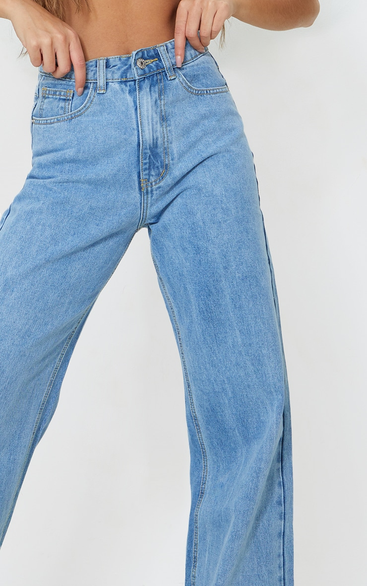 Light Blue Wash Light Weight Wide Leg Jeans 4