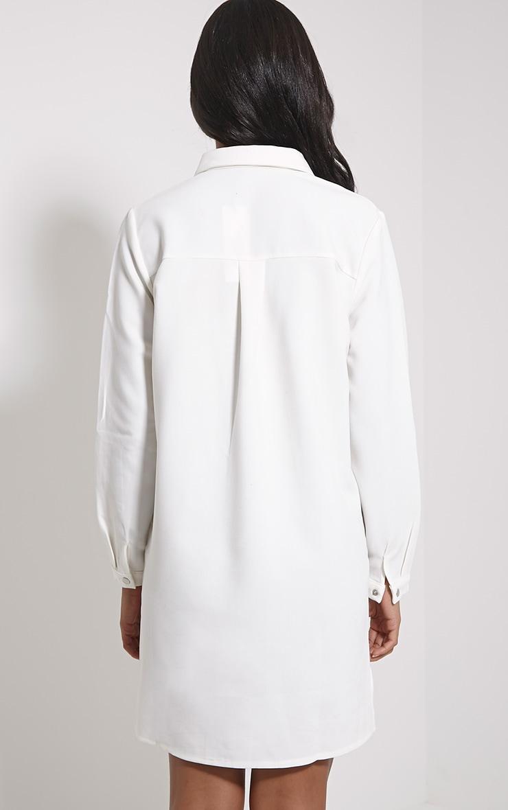 Raden Cream Premium Shirt Dress 2