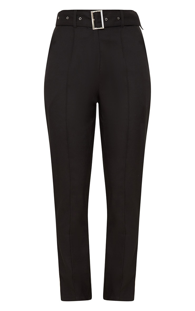 Black Belted Tailored Trousers 3