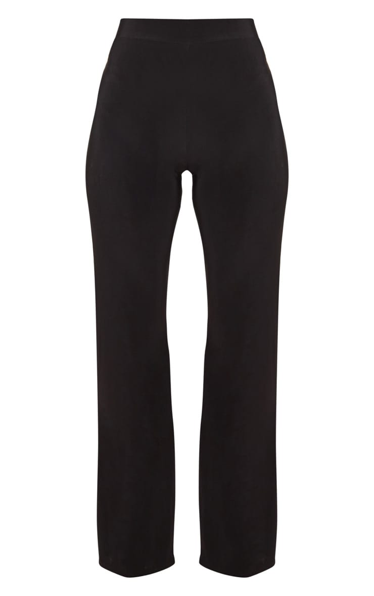 Petite Kyleigh Black Slinky Straight Leg Trouser 3