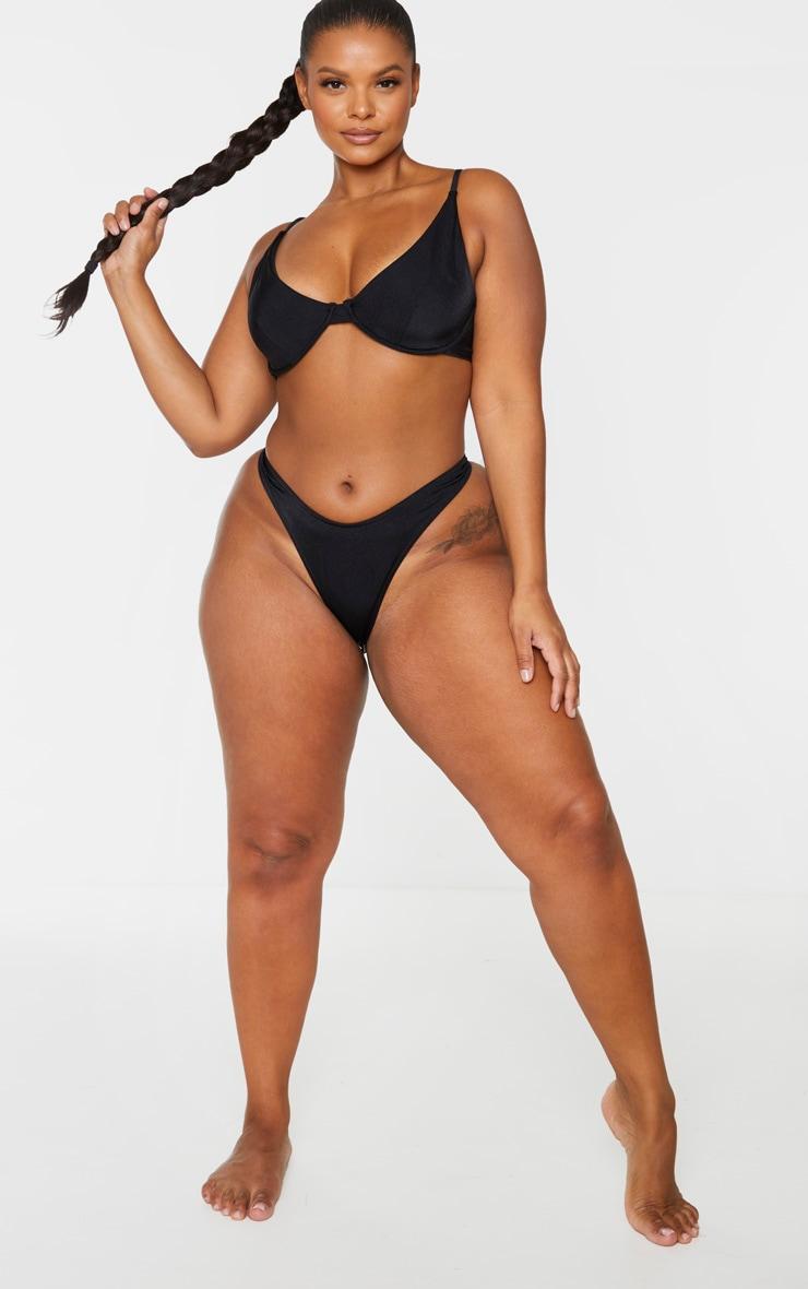 Plus Black Mix & Match Bikini Thong 4