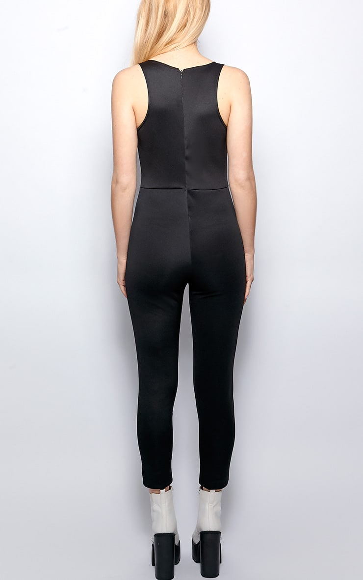 Stephanie Black Cut Out Jumpsuit 2