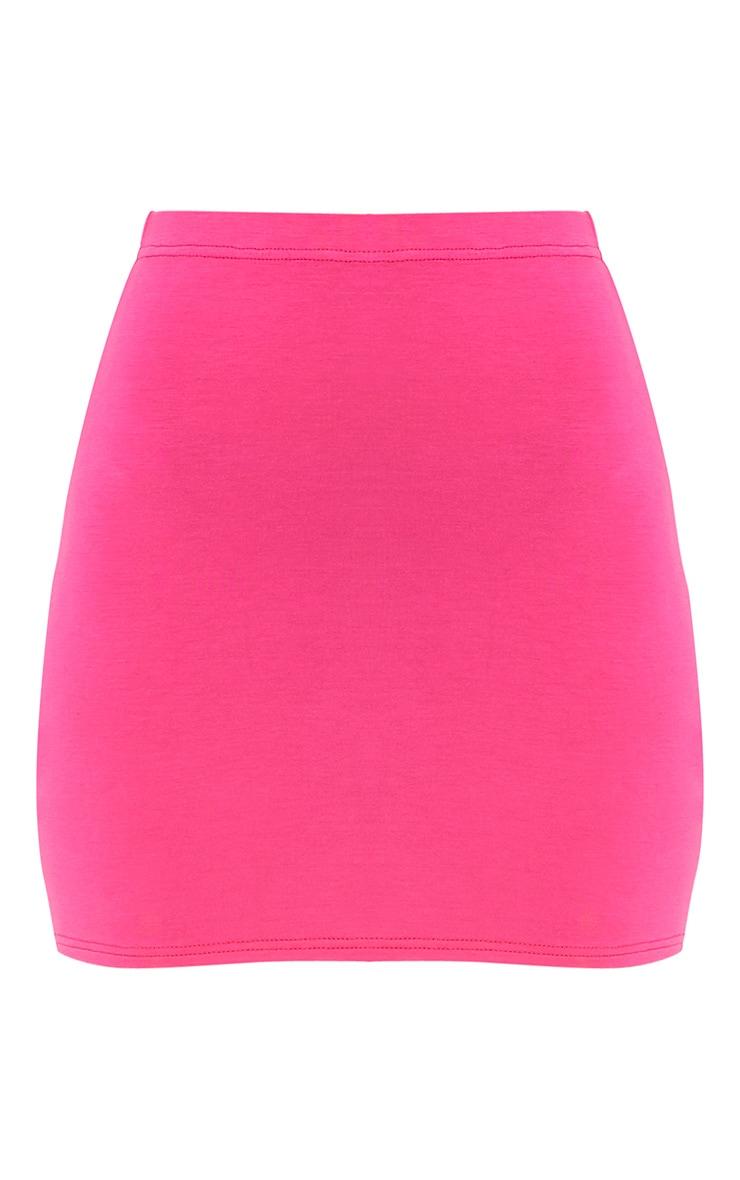 Basic Hot Pink Mini Skirt 3