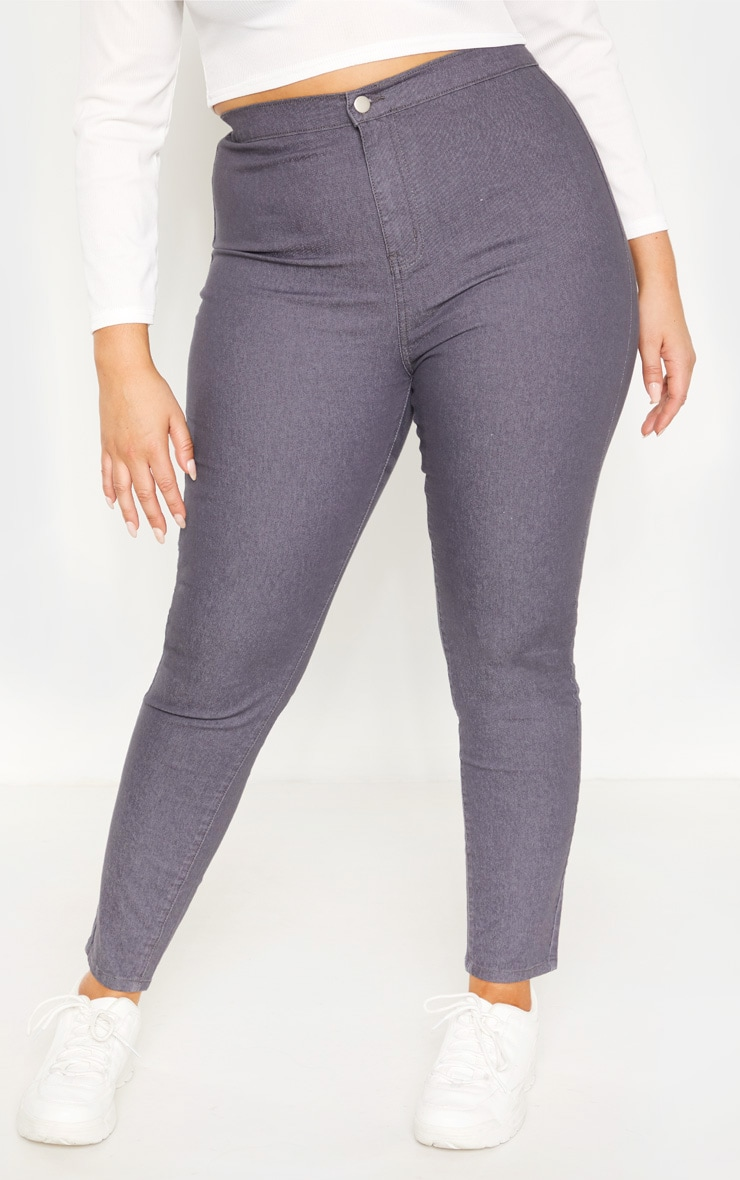 Plus Charcoal Stretch Jegging 2