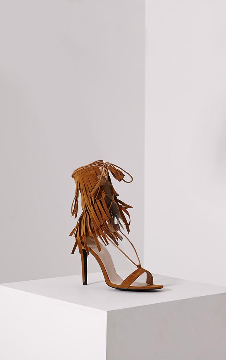 Haiden Tan Tassel Strap Sandals 3