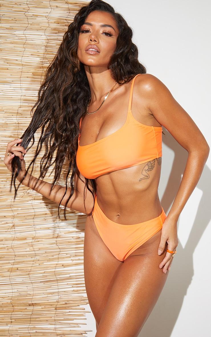 Recycled Orange Mix & Match Scoop Bikini Top 1