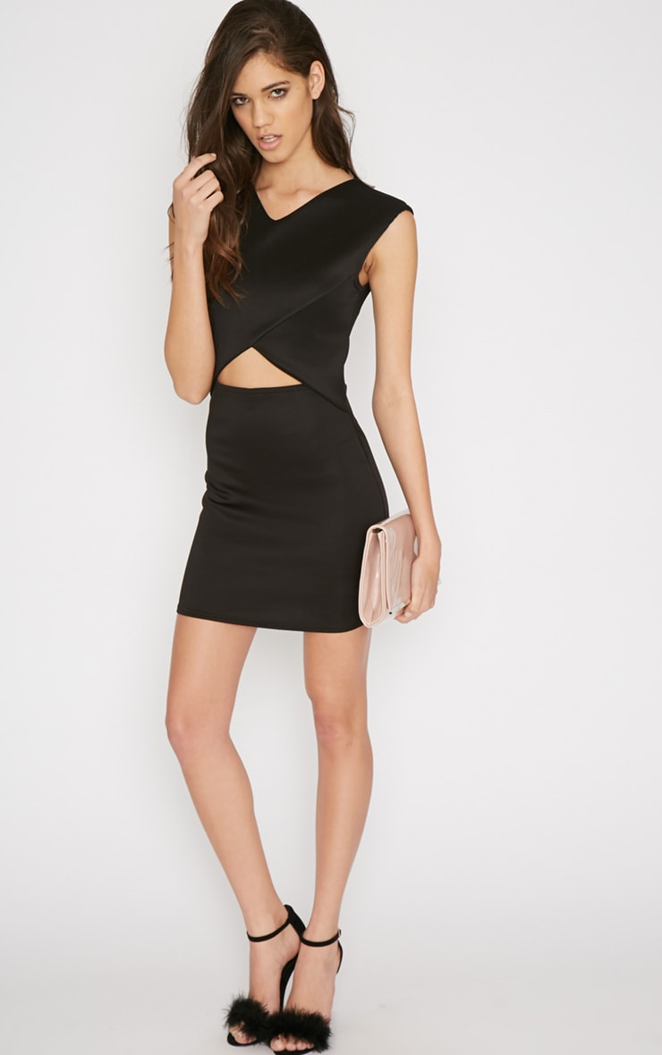 Itzel Black Cut Out Mini Dress 4