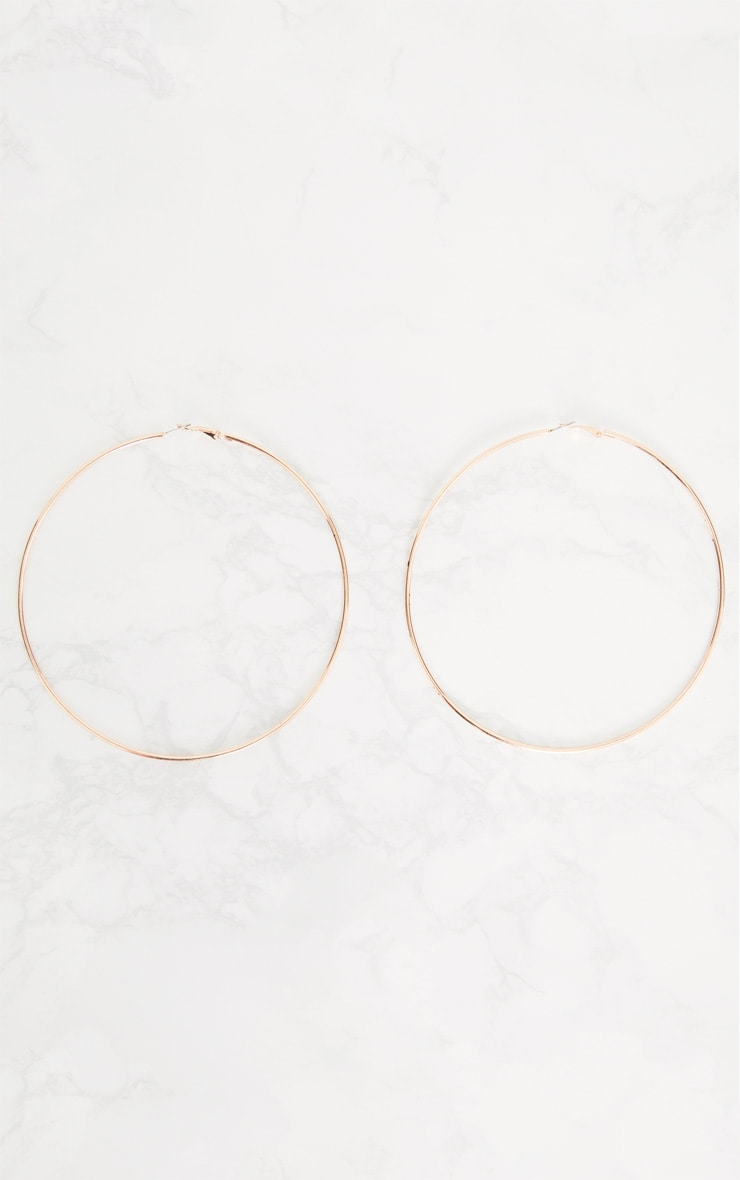 Rose Gold 120mm Hoop Earrings 3