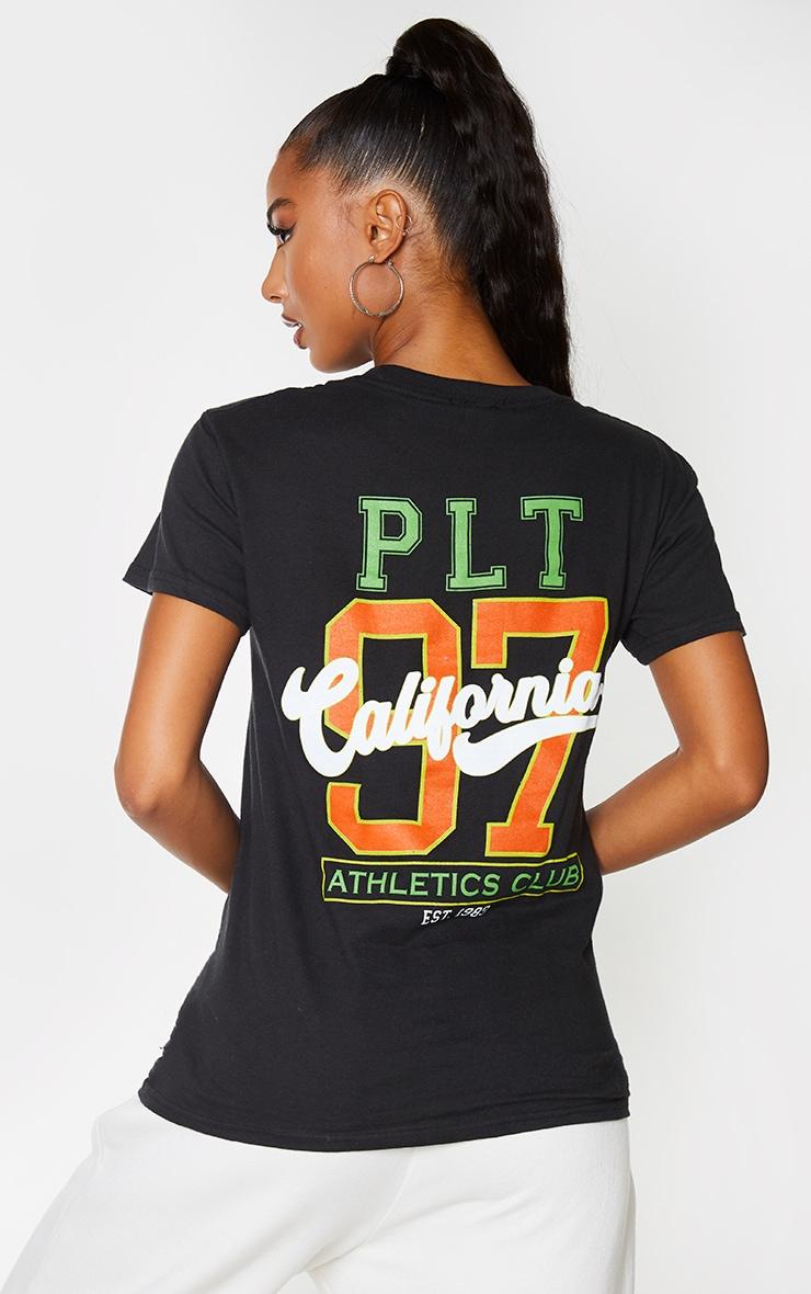 Black Athletics Club Back Slogan T Shirt 4
