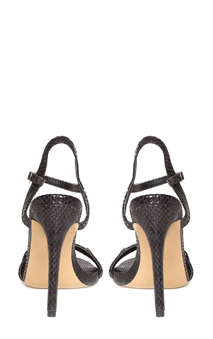 Jamie-Lee Black Gold Detail One Strap Sandals 8