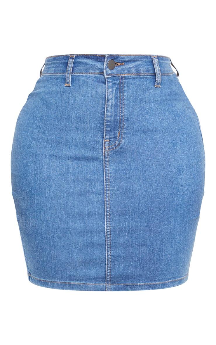 Shape Mid Wash Disco Bodycon Skirt 3