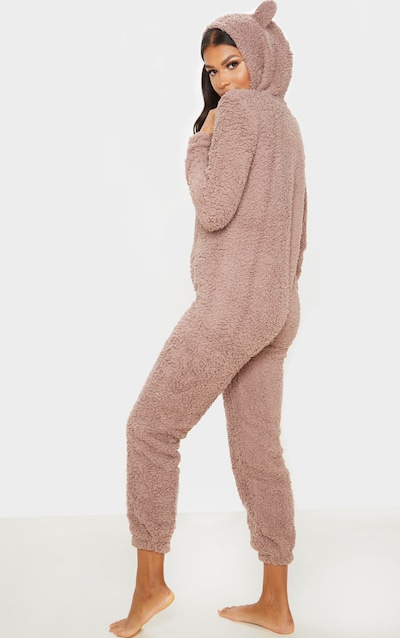 Taupe Onesie With Ears